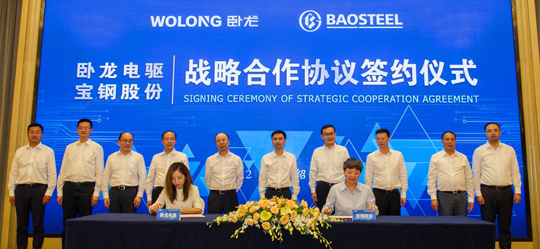 卧龙电驱与宝钢股份强强联手签署战略合作协议!